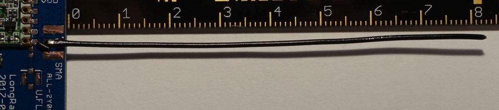 Drahtantenne am LoRa Board mit Arduino Zero